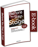 Before You Step on Stage
